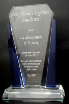 Victoire Ingabire Umuhoza Prize for Democracy and Peace » Victoire Ingabire  Umuhoza